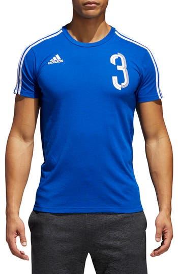 Adidas Soccer Slim Fit T-Shirt, Blue