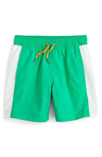 Boys Crewcuts By J.crew Colorblock Swim Trunks Size 5  Green
