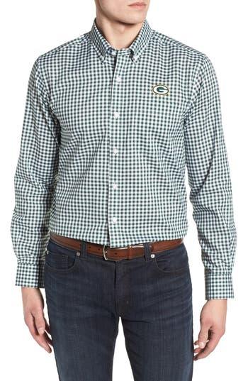 Men's Cutter & Buck League Green Bay Packers Regular Fit Shirt