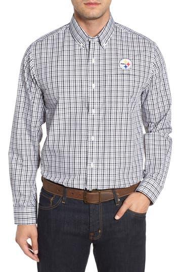 Men's Cutter & Buck Pittsburgh Steelers - Gilman Regular Fit Plaid Sport Shirt
