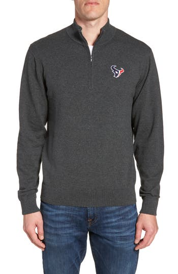 Cutter & Buck Houston Texans - Lakemont Regular Fit Quarter Zip Sweater