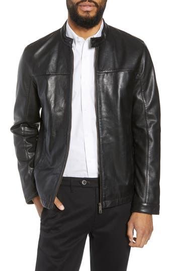Ted Baker London Ginga Trim Fit Leather Jacket