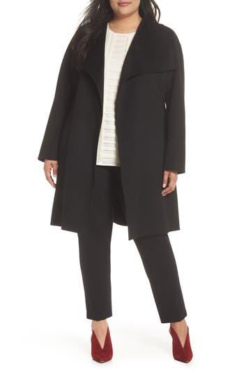 Tahari Ellie Double Face Wool Blend Wrap Coat