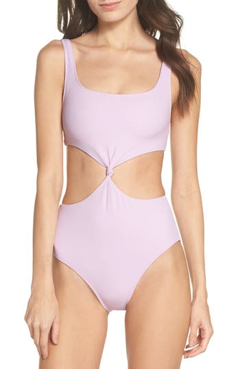 Solid & Striped The Bailey One-Piece Swimsuit, Purple