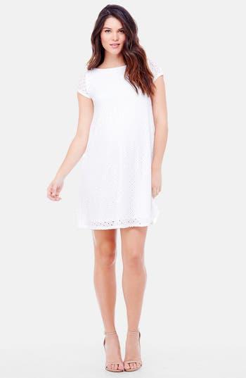 Ingrid & Isabel Lace Shift Maternity Dress