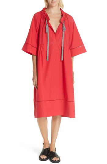 LEE MATHEWS MILLER COTTON POPLIN DRESS