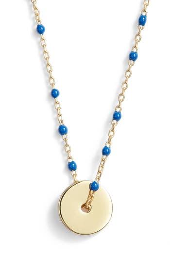 Women's Argento Vivo Enamel Bead Pendant Necklace