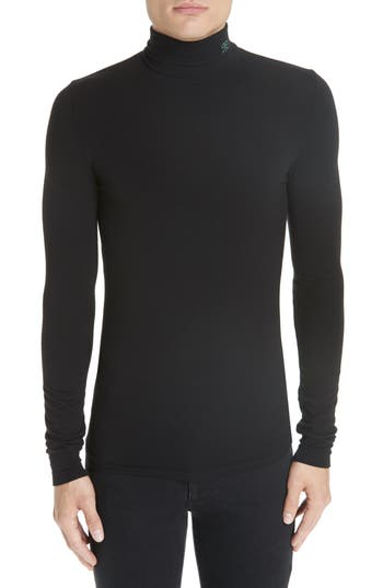 Men's Raf Simons Turtleneck Sweater, Size X-Large - Black