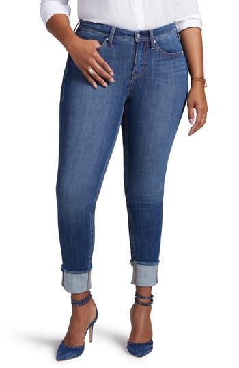 Curves 360 by NYDJ Boost Raw Cuff Skinny Jeans