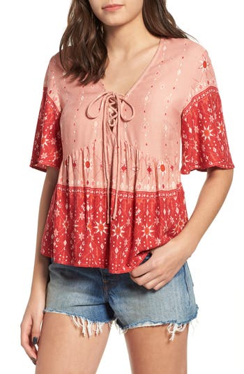 Women's Somedays Lovin Feeling Love Bicolor Blouse, Size X-Small - Pink