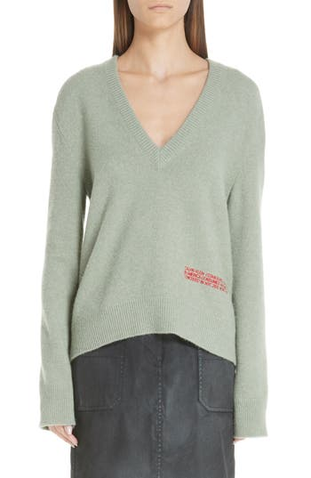 8c3528fd7ad0 CALVIN KLEIN 205W39NYC LOGO EMBROIDERED WOOL   COTTON SWEATER