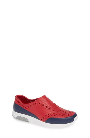 Boys Native Shoes Lennox Block SlipOn Sneaker Size 1 M  Red