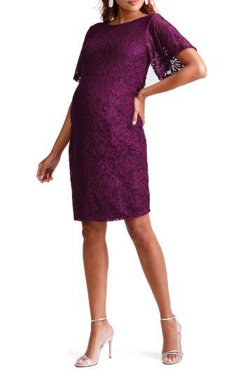 Ingrid & Isabel® Flutter Sleeve Lace Maternity Dress