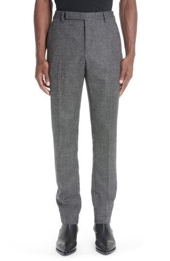 Saint Laurent Check Slim Trousers