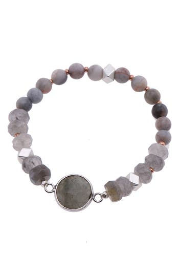 Nakamol Design Faceted Stone Stretch Bracelet
