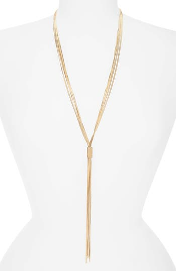 Canvas Jewelry Lariat Necklace