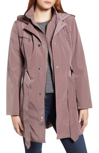 London Fog Hooded Trench Coat