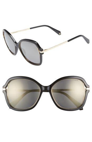 Polaroid 55mm Cutout Round Polarized Sunglasses