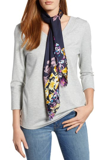 Halogen® Floral Print Silk Twill Scarf