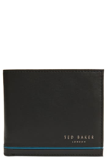 Ted Baker London Stripe Detail Leather Bifold Wallet