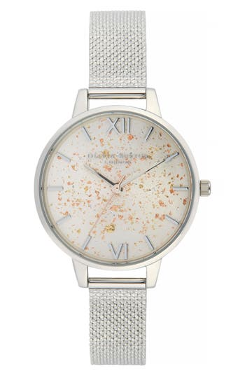 Olivia Burton Celestial Mesh Strap Watch, 34mm