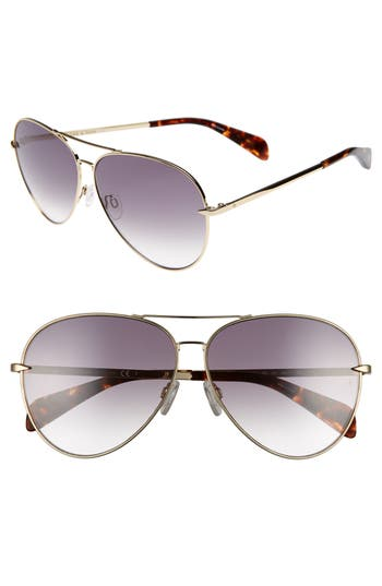 rag & bone 63mm Oversize Aviator Sunglasses