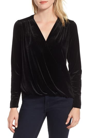 Gibson x Glam Squad Mallory Velvet Wrap Top