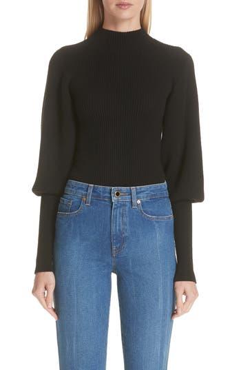 Khaite Puff Sleeve Merino Wool Sweater