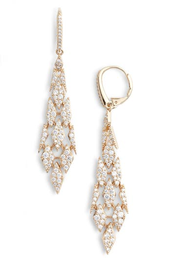 Nadri Cubic Zirconia Kite Drop Earrings