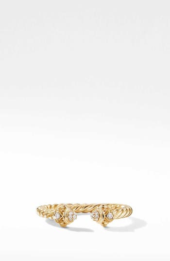 David Yurman Renaissance Ring in 18K Gold with Diamonds