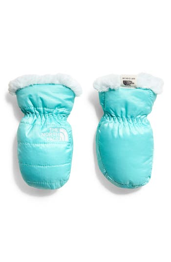Infant Girls The North Face Mossbud Swirl Reversible Water Resistant Heatseeker(TM) Insulated Mittens