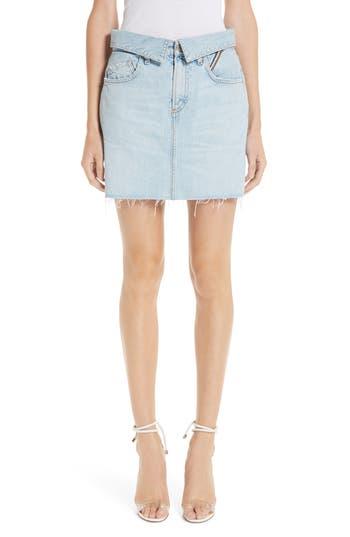Jean Atelier Flip Denim Miniskirt