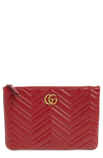 Gucci GG Marmont 2.0 Matelassé Leather Pouch