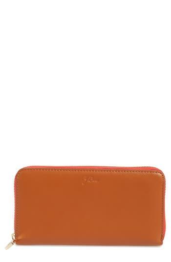 J.Crew Harper Leather Continental Wallet