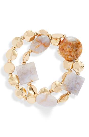 Halogen® Molten Bead Stretch Bracelet