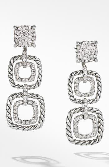 David Yurman Chatelaine Full Pavé Triple Drop Earrings
