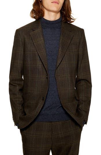 Topman Classic Fit Check Suit Jacket
