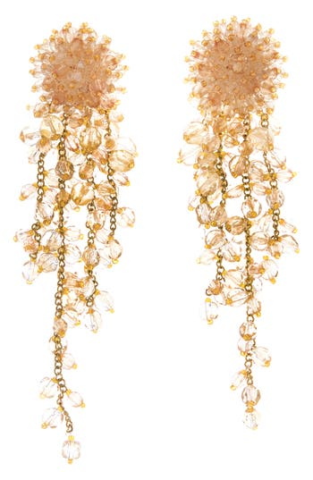 Oscar de la Renta Beaded Cascade Earrings