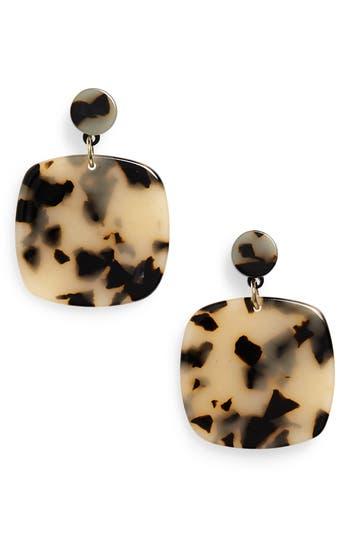 Halogen® Resin Square Drop Earrings