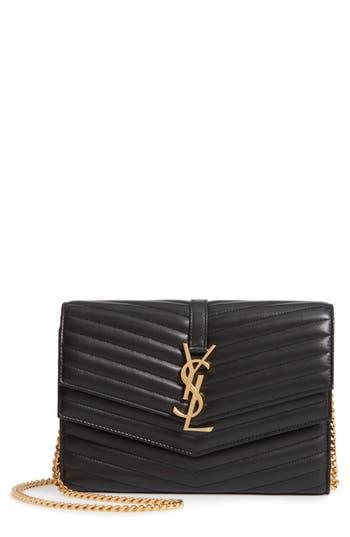 Saint Laurent Sulpice Leather Crossbody Wallet