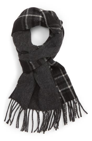 Polo Ralph Lauren Reversible Stable Plaid Wool Blend Scarf