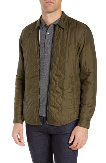 BOSS Landolfo Regular Fit Quilted Shirt Jacket