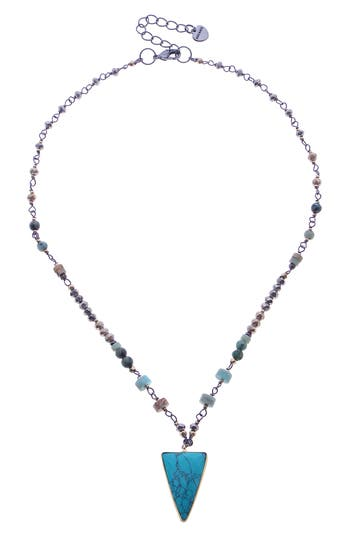 Nakamol Design Bead, Stone & Crystal Short Necklace