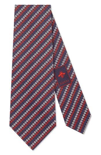 Gucci Diagonal GG Silk Tie