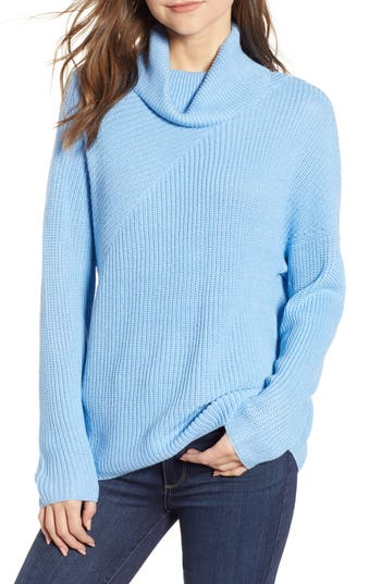 Chelsea28 Stitch Interest Turtleneck Sweater