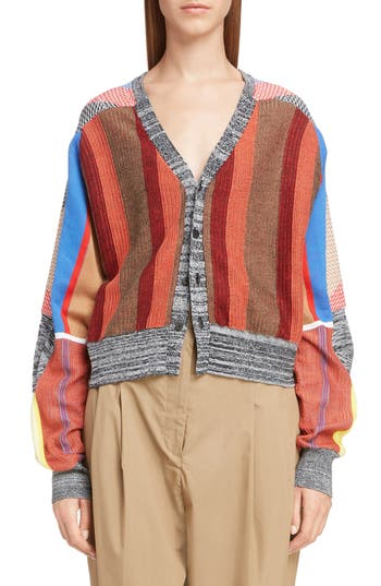 Toga Jacquard Knit Cardigan