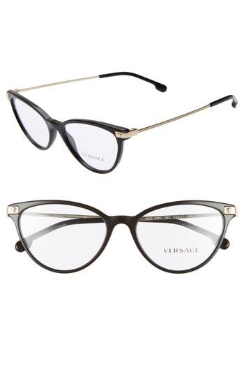 Versace 54mm Cat Eye Optical Glasses