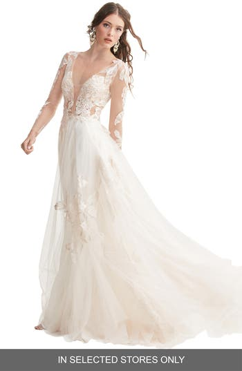 Willowby Rhapsody Lace & Tulle A-Line Wedding Dress