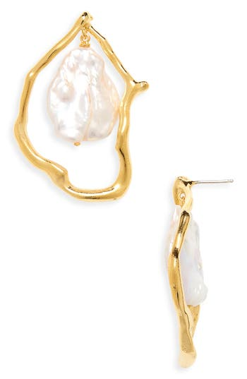 Lizzie Fortunato Formation Cultured Pearl Drop Earrings