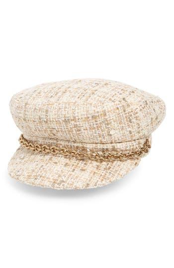 Maison Michel Abby Shiny Tweed Baker Boy Cap